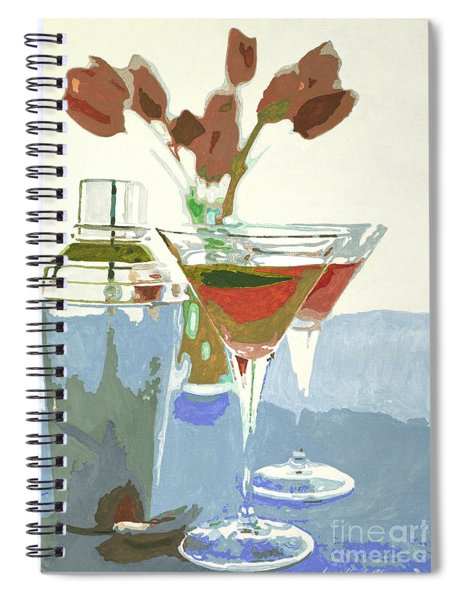 Two Tulip Martinis Spiral Notebook