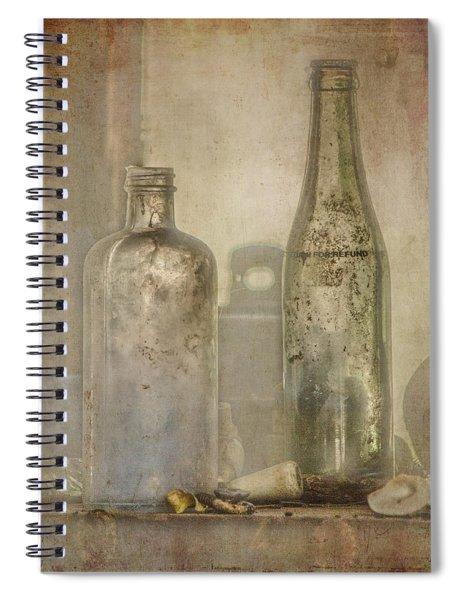 Two Vintage Bottles Spiral Notebook
