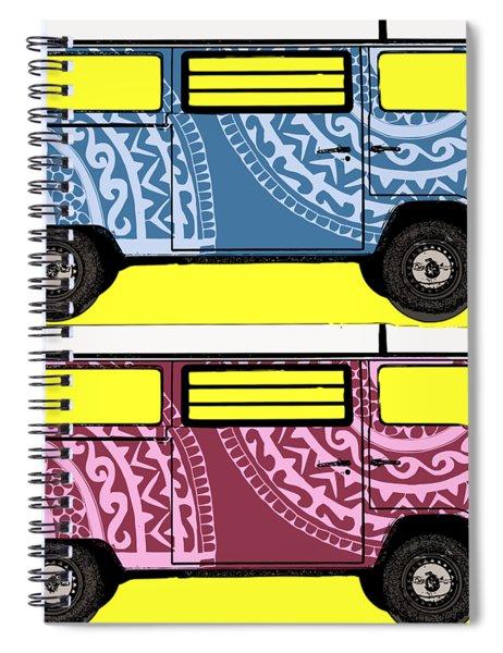Two Vw Vans Spiral Notebook