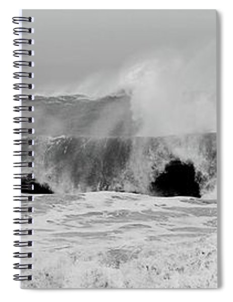 Two Waves Are Better Than One - Jersey Shore Spiral Notebook