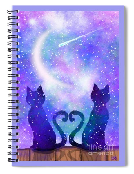 Two Wishing On A Star Spiral Notebook