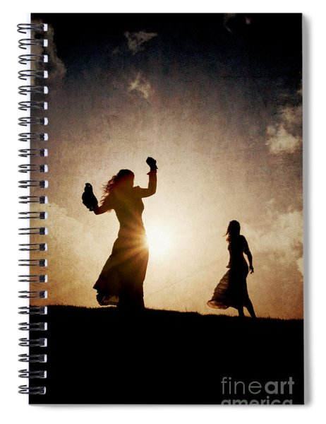 Two Women Dancing At Sunset Spiral Notebook