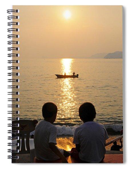 Twofer Spiral Notebook by Skip Hunt