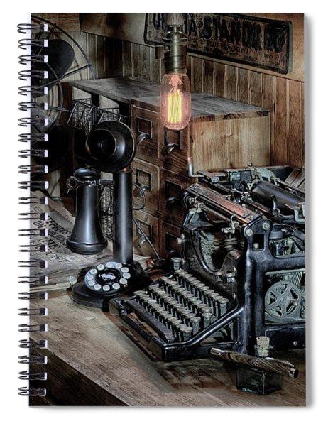 Typewriter Manifesto  Spiral Notebook