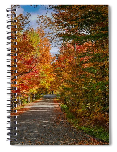 Spiral Notebook featuring the photograph Typical Vermont Dirve - Fall Foliage by Robert Bellomy
