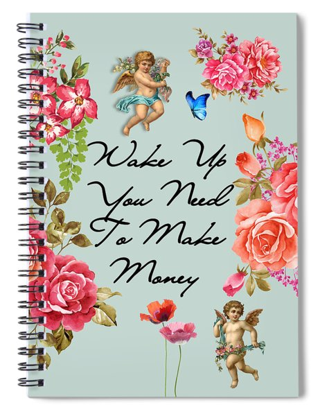 Typography Flowers  Spiral Notebook
