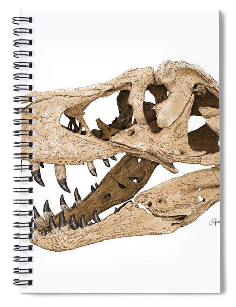 Tyrannosaurus Skull Spiral Notebook