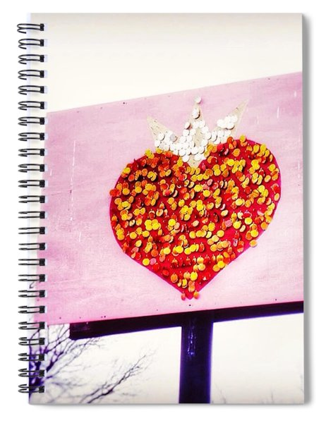 Tyson's Tacos Heart Spiral Notebook