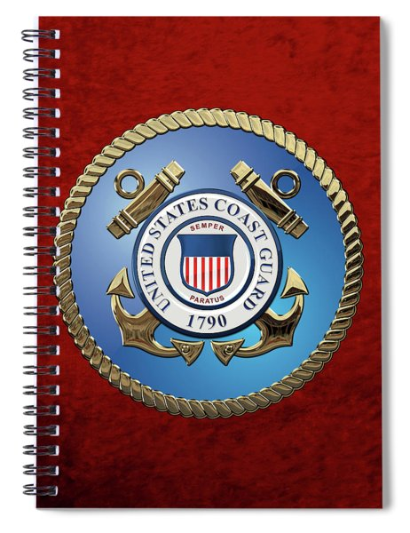 U. S. Coast Guard - U S C G Emblem Spiral Notebook