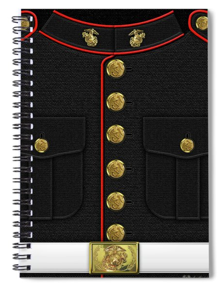 U S M C Dress Uniform Spiral Notebook
