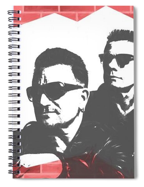 U2 Graffiti Tribute Spiral Notebook