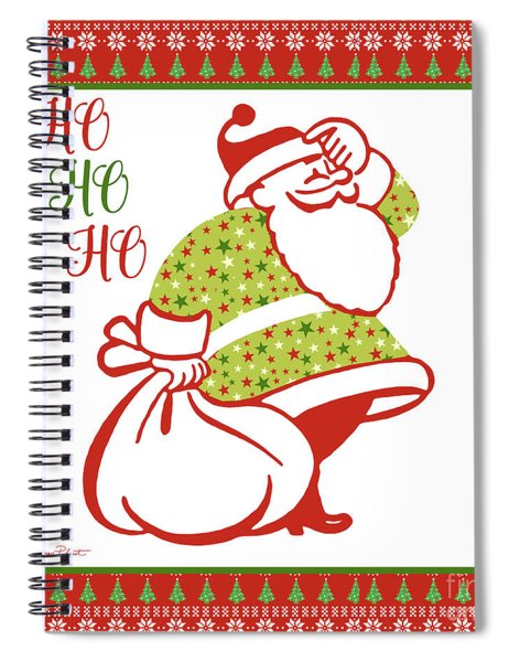 Ugly Christmas Sweater Santa-c Spiral Notebook