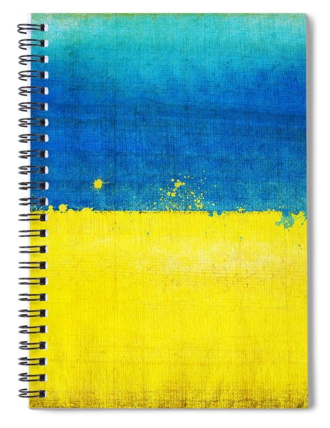 Ukraine Flag Spiral Notebook