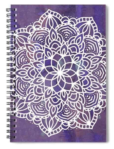 Ultraviolet Mandala Spiral Notebook