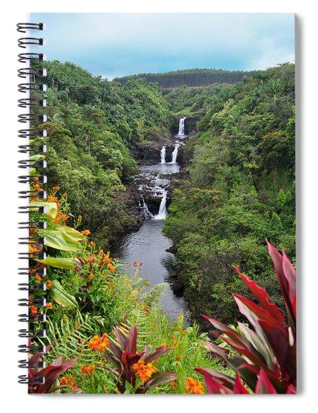Umauma Falls Hawaii Spiral Notebook