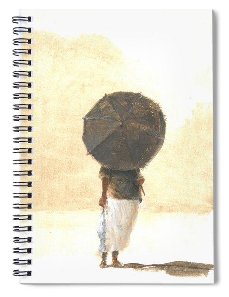 Umbrella And Fish Two Spiral Notebook
