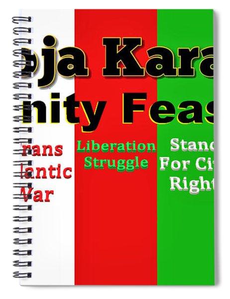 Umoja Karamu Unity Feast Spiral Notebook
