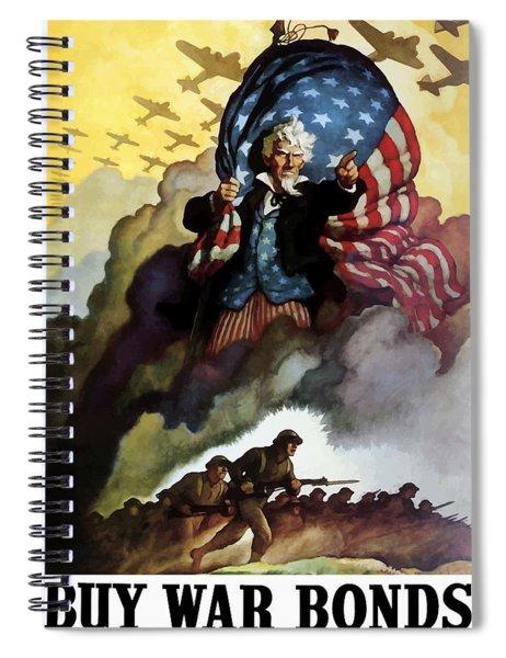 Uncle Sam - Buy War Bonds Spiral Notebook