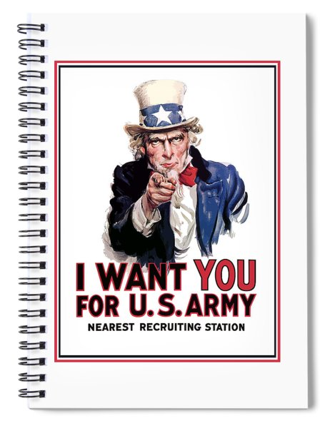Uncle Sam -- I Want You Spiral Notebook