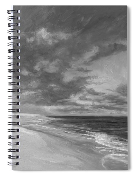 Under A Painted Sky - Black And White Spiral Notebook