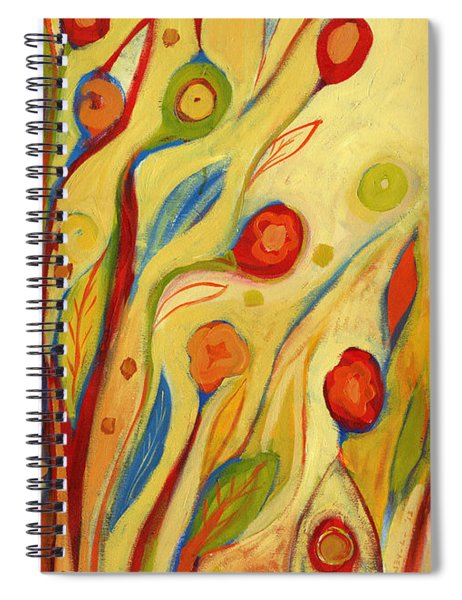 Under A Sky Of Peaches And Cream Spiral Notebook