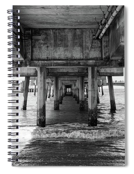 Under Belmont Veterans Memorial Pier Spiral Notebook