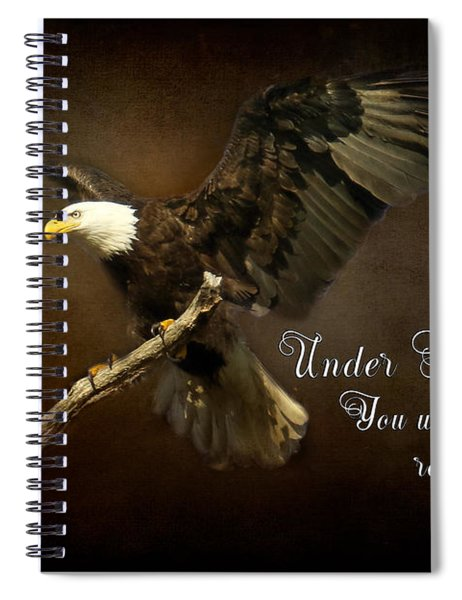 Under His Wings Spiral Notebook