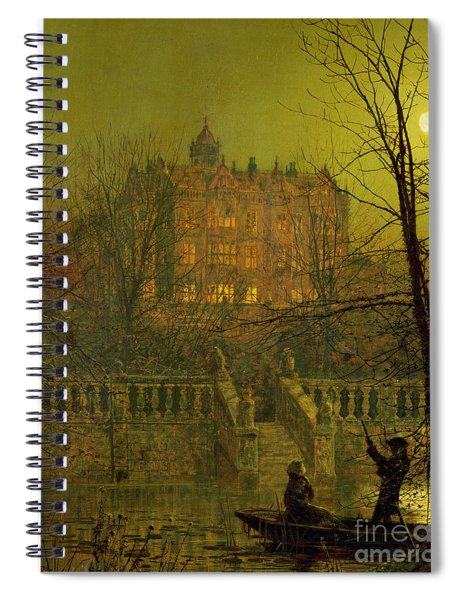 Under The Moonbeams, 1882 Spiral Notebook