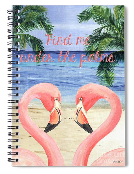Under The Palms Spiral Notebook