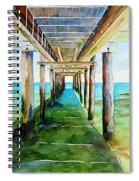 Under The Playa Paraiso Pier Spiral Notebook