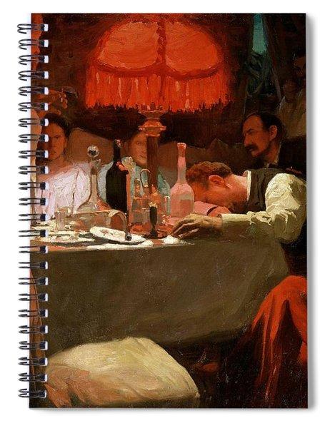 Under The Red Light Spiral Notebook