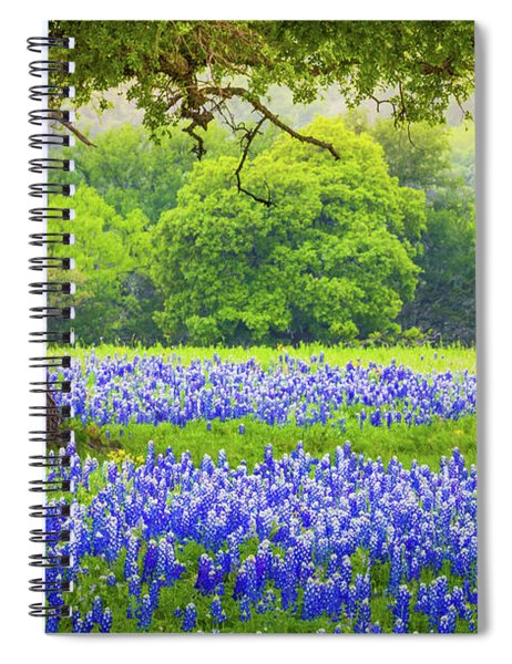 Spiral Notebook featuring the photograph Under The Tree by Inge Johnsson