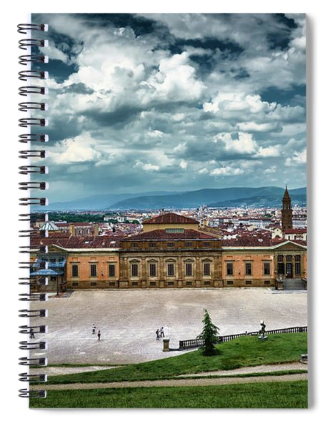 The Meridian Palace And Cityscape In Florence, Italy Spiral Notebook