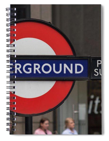 Underground Sign London Spiral Notebook