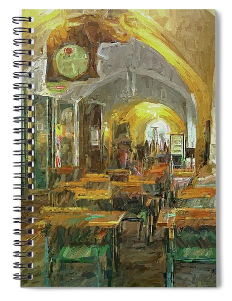 Underneath The Arches - Street Cafe, Prague Spiral Notebook
