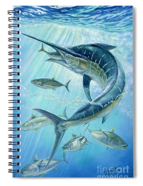 Underwater Hunting Spiral Notebook