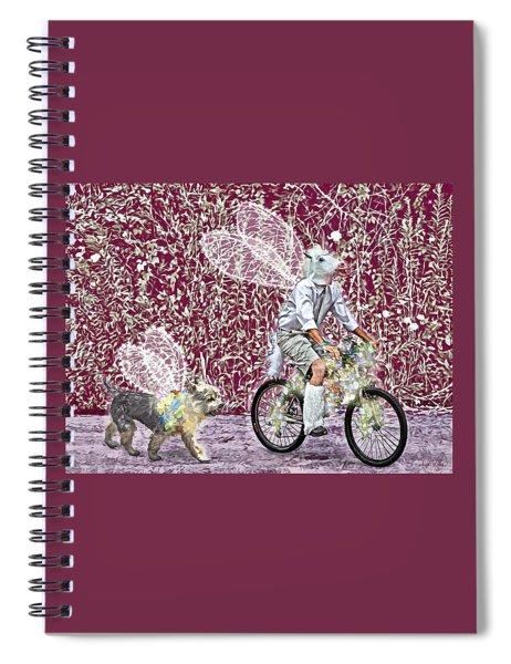 Unicorn And Doggie Fairies Spiral Notebook