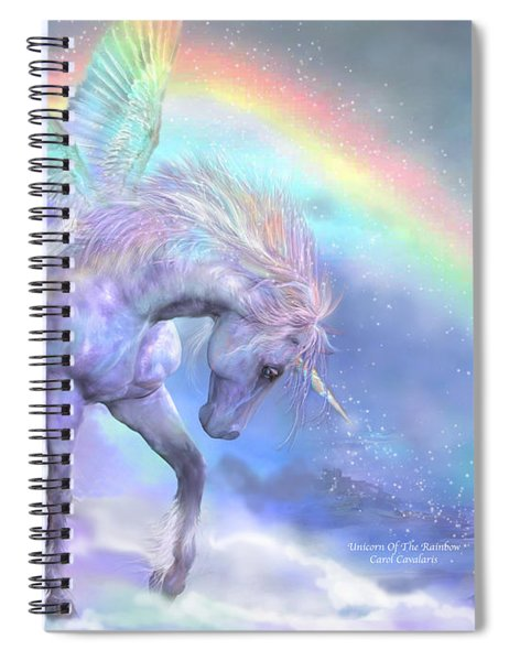 Unicorn Of The Rainbow Spiral Notebook