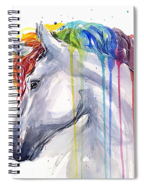 Unicorn Rainbow Watercolor Spiral Notebook