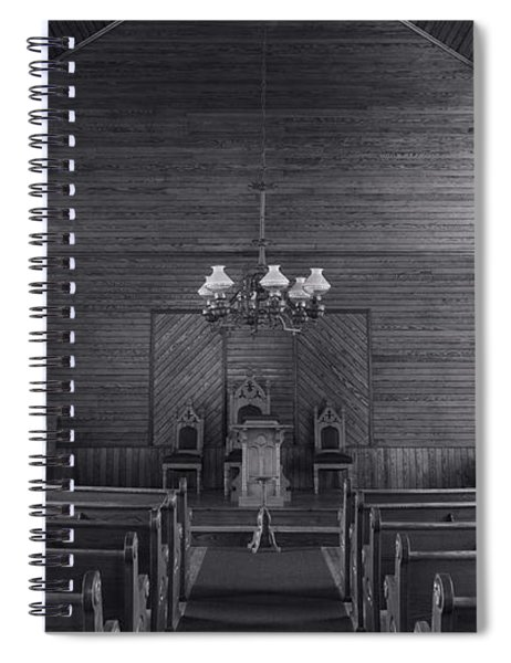 Union Christian Church Sanctuary - Bw Spiral Notebook