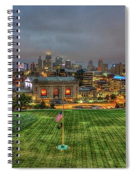 Union Station Dawn Kansas City Missouri Sunrise Art  Spiral Notebook