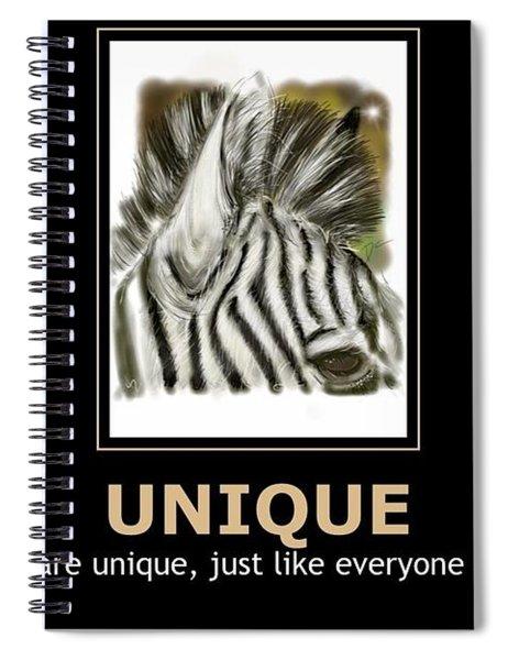 Unique Motivational Poster Spiral Notebook