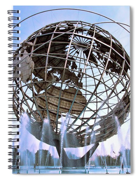 Unisphere With Fountains Spiral Notebook