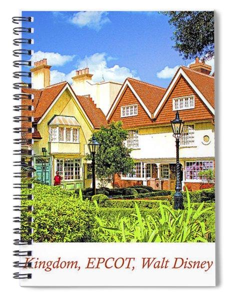 United Kingdom Buildings, Epcot, Walt Disney World Spiral Notebook