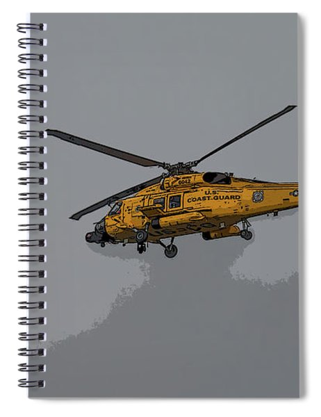 United States Coast Guard Helicopter Spiral Notebook