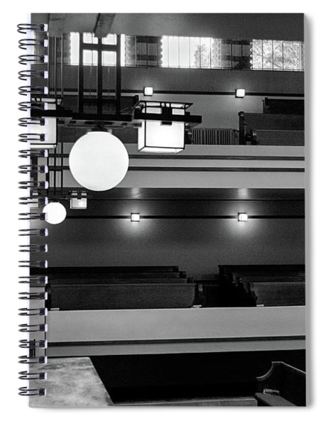 Unity Temple Interior Black And White Spiral Notebook