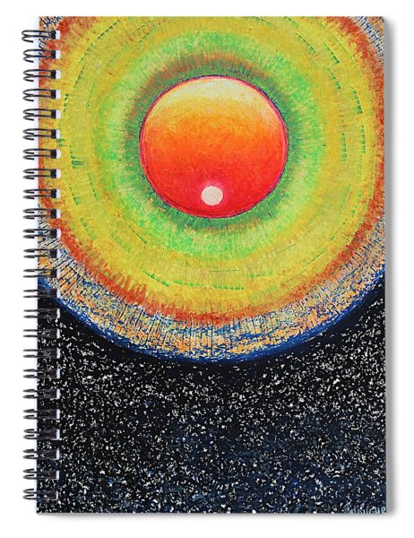 Universal Eye In Red Spiral Notebook