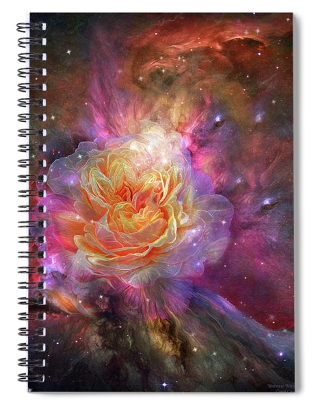Universe Within A Rose Spiral Notebook