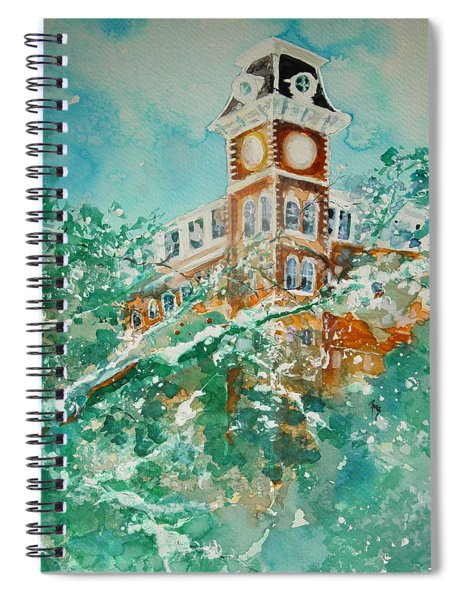 Ice On Old Main 1 Spiral Notebook