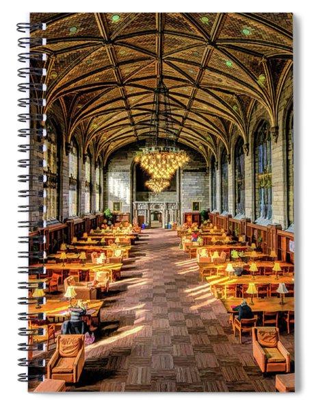 University Of Chicago Harper Library Spiral Notebook